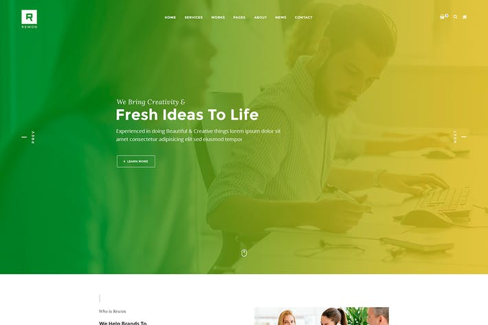 Thumbnail for REWON - Multipurpose PSD Template