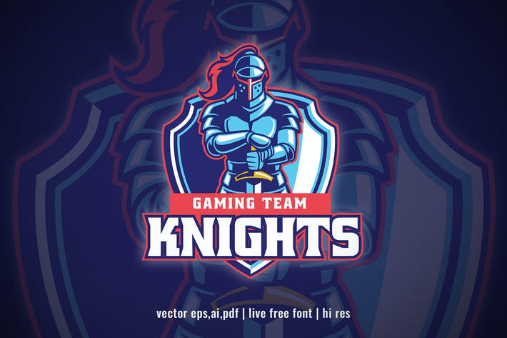 Thumbnail for Knight Mascot sport and esport logo