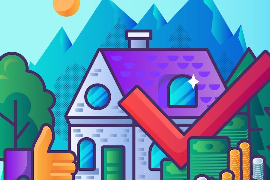 Profitable Immobilien-Illustration