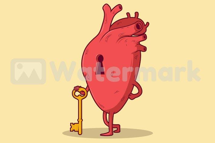 Herz-Schlüssel