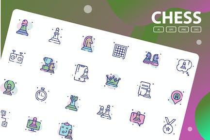 Paquete de iconos de ajedrez