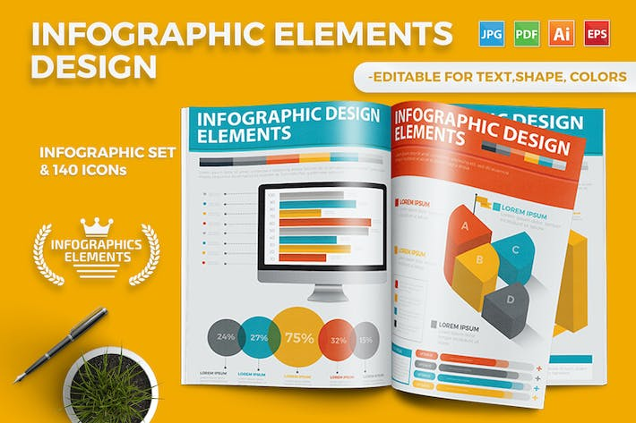 Cover Image For Infographics Template Design