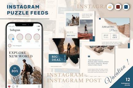 Vacation Adventure Puzzle Instagram Feed