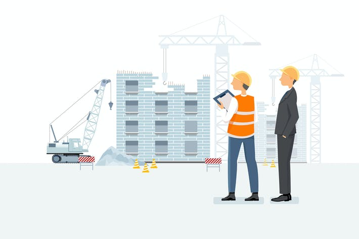 Thumbnail for Real estate agent & builder looking at a job site