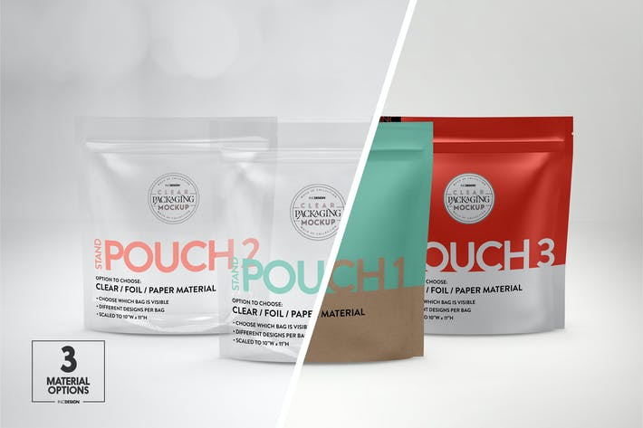 Thumbnail for Standing Zip Pouch Packaging Mockup