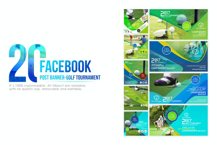 Cover Image For 20 Facebook Post Banner-Golf Tournament