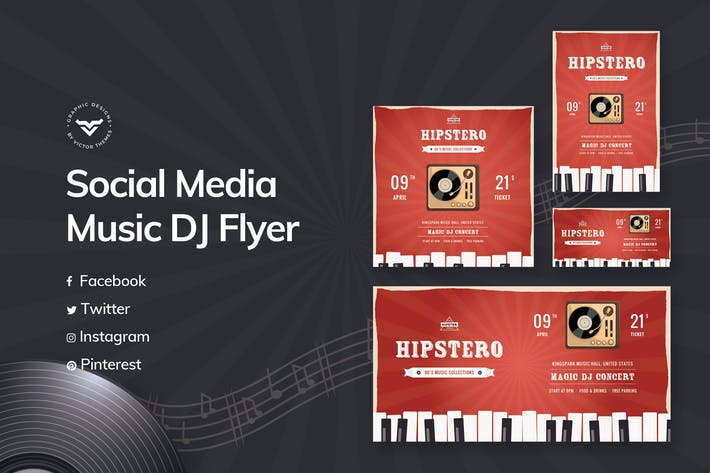Thumbnail for Music Social Media Templates