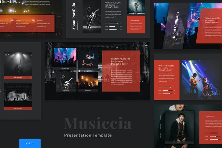 Thumbnail for Musiccia - Music Performance Keynote Template