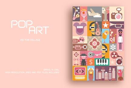 Party pop art vector design