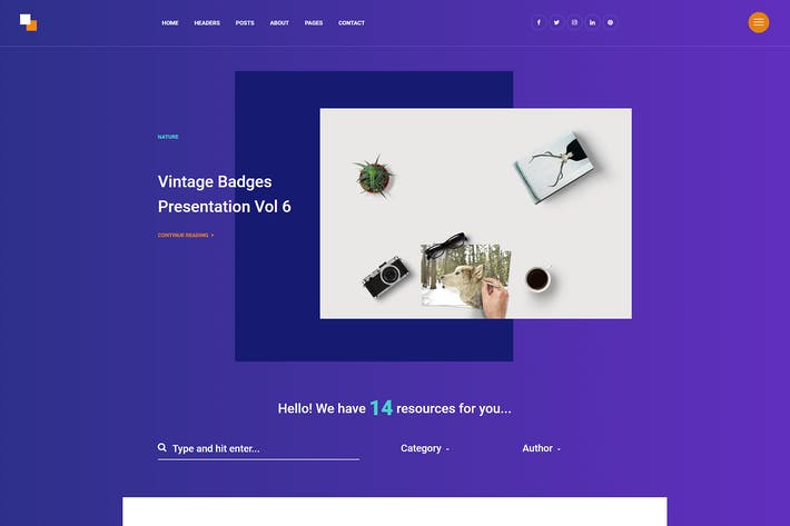Horizon - Freebies Modern Blog Theme