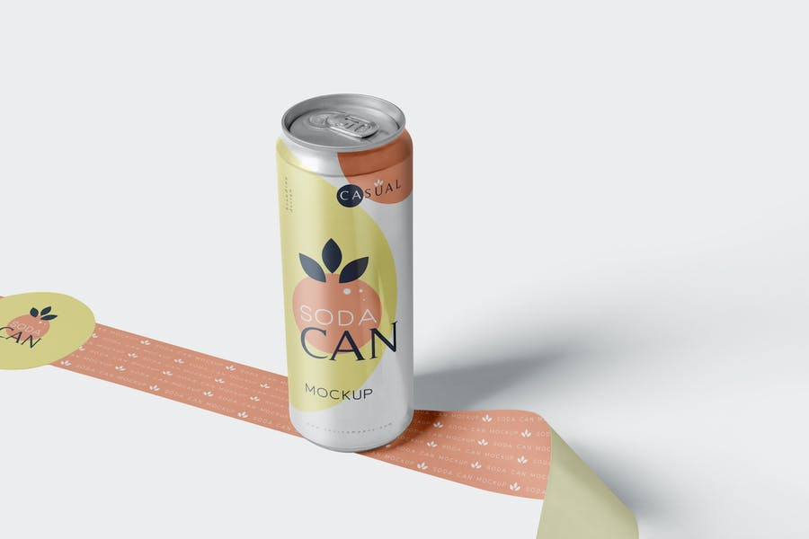 Chilled Soda Can Mockups