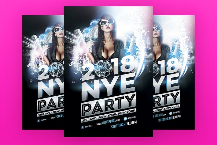 Cover Image For New Years Eve Party Flyer Template