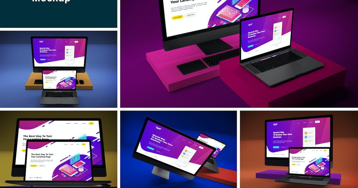 Download Web Mockup by QalebStudio