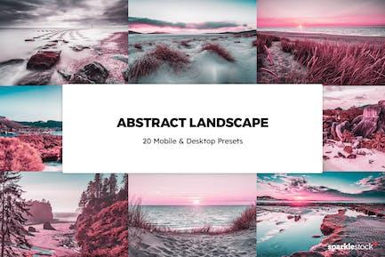 20 Abstract Landscapes Lightroom Presets & LUTs