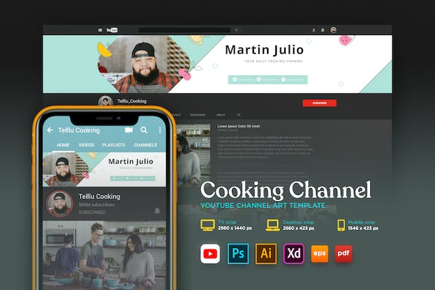 Youtube Cover Art Vol.13 Cooking Channel