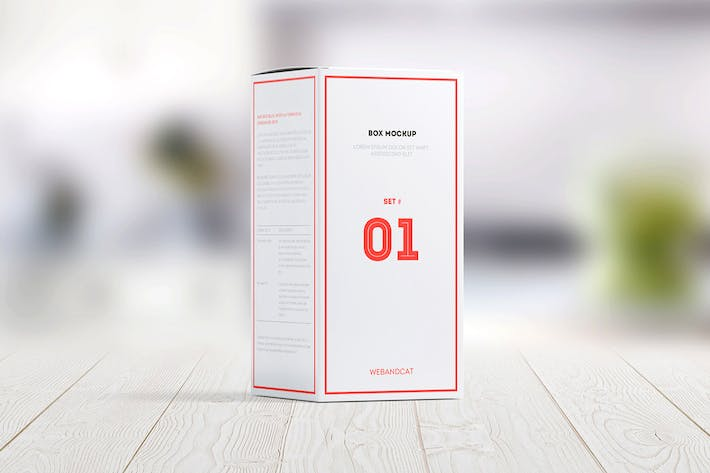 Package Box Mock-up: Rectangle box