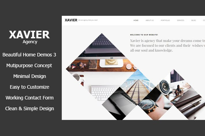 Thumbnail for Xavier - Portfolio and Agency HTML theme