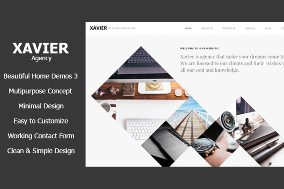 Download Xavier - Portfolio and Agency HTML theme by max-themes