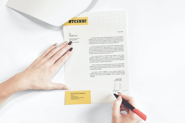 Thumbnail for A4 Paper / Business Letter / Letterhead Mockup