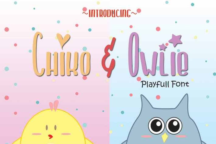 Thumbnail for Chiko & Owlie - Cute Font