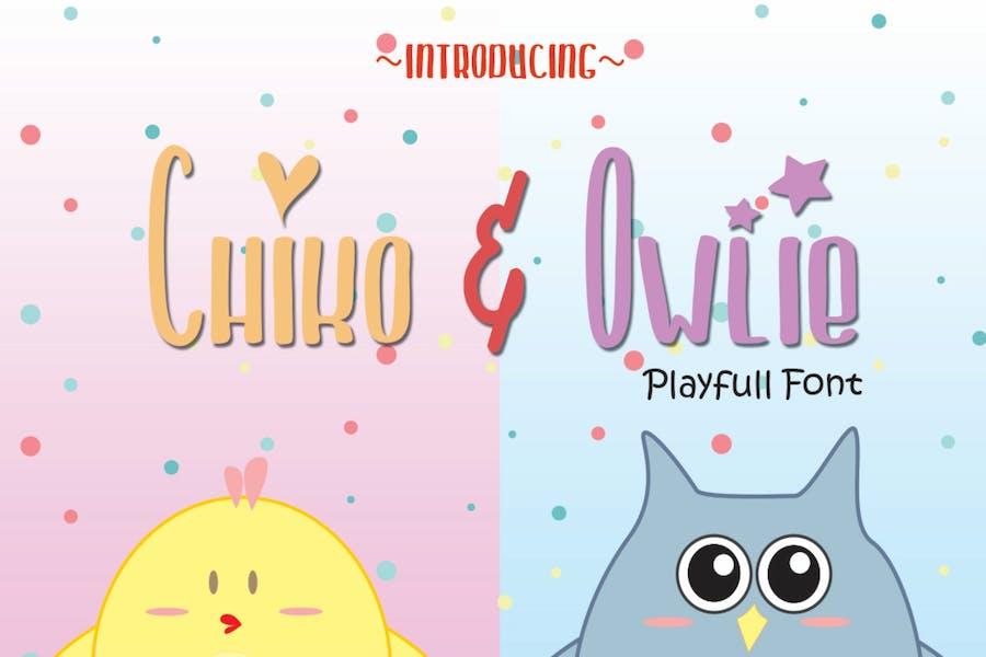Chiko & Owlie - Cute Font