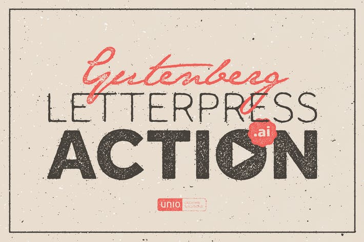 Thumbnail for Gutenberg - Letterpress Acción