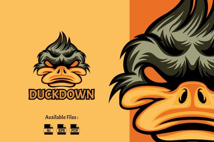 Duck Down Logo Template
