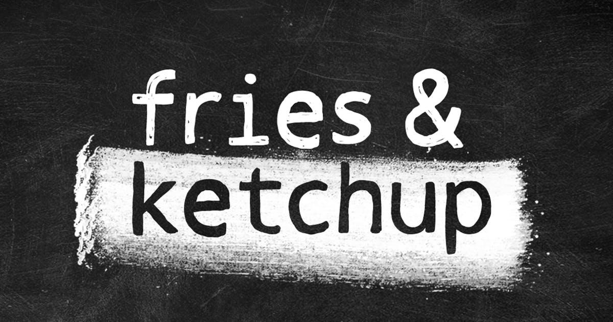 Download Fries and Ketchup Hand Drawn Font by pixelcolours