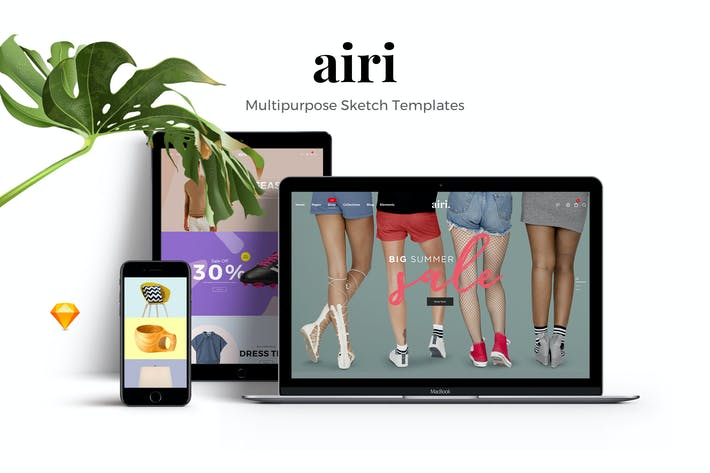 Thumbnail for AIRI - Clean, Minimal Sketch Templates