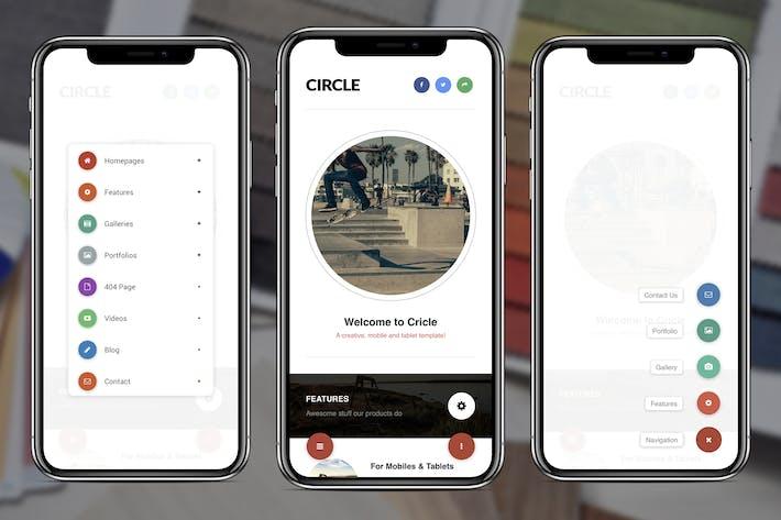 Thumbnail for Circle Mobile | Mobile WordPress Theme