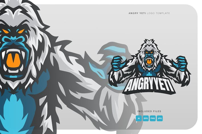 Thumbnail for Angry Yeti Logo Template