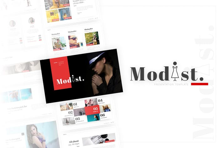 Thumbnail for Modist - Многоцелевой моды PowerPoint Шаблон