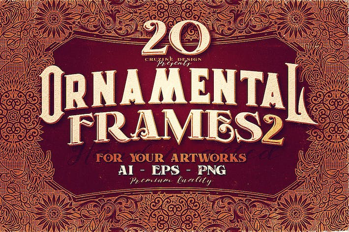 Thumbnail for 20 Ornamental Vintage Frames 2