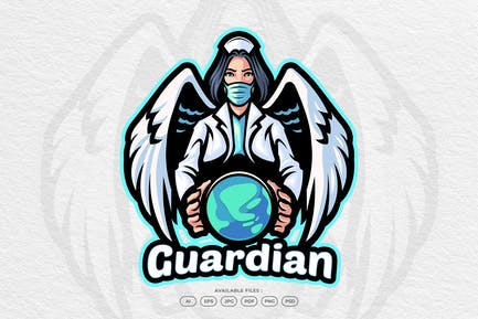 Medical Doctor and Health Care Mascot Logo