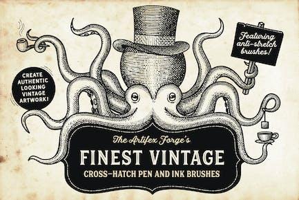 Finest Vintage - Illustrator Brushes