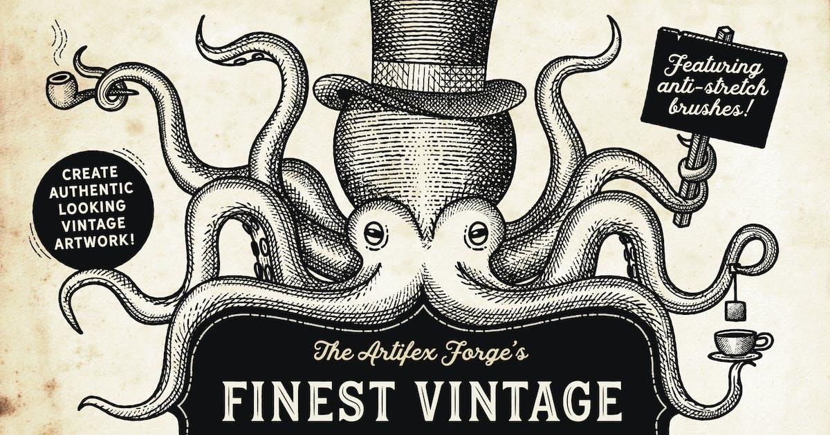 Finest Vintage - Illustrator Brushes by JRChild