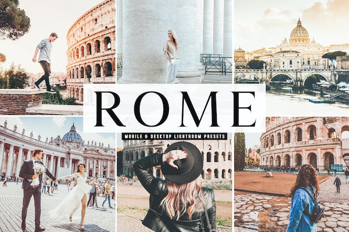 Thumbnail for Rome Mobile & Desktop Lightroom Presets