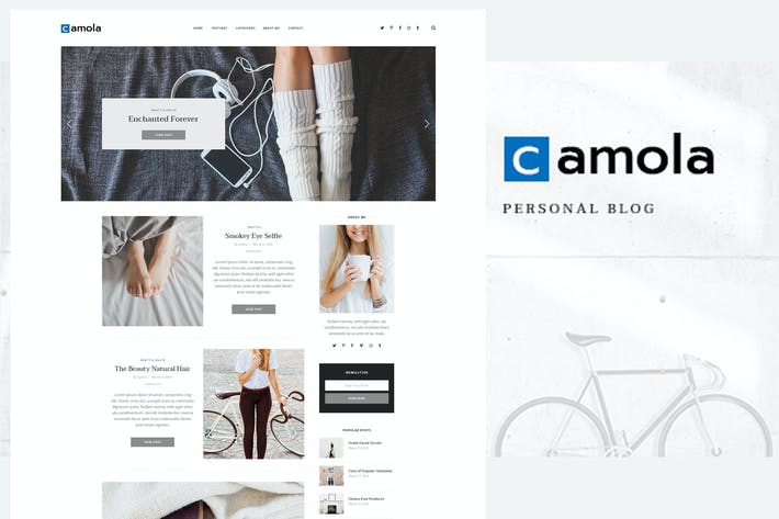 Thumbnail for Camola - Blogging Traveling & Photography Template