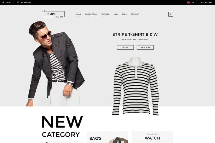 Thumbnail for DMCS - Ecommerce PSD Template