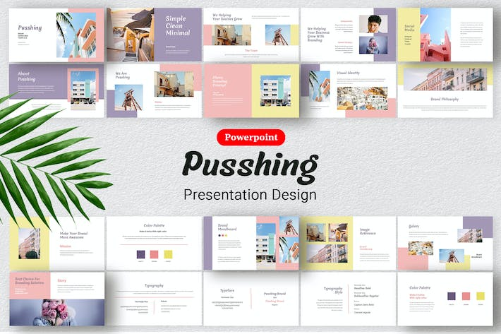 Thumbnail for Pusshing - Presentation Design Template Powerpoint
