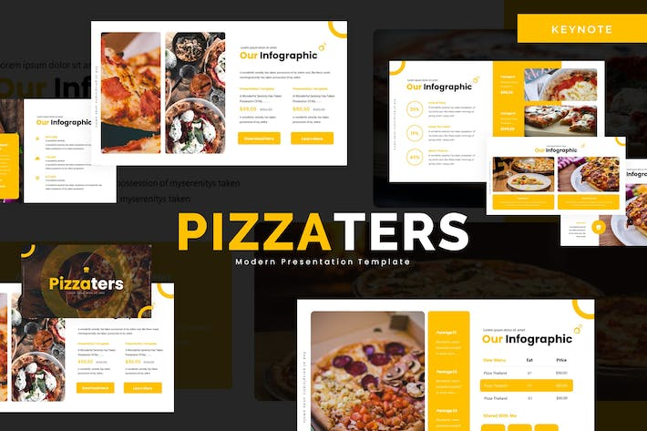 Thumbnail for Pizzaters - Keynote Template