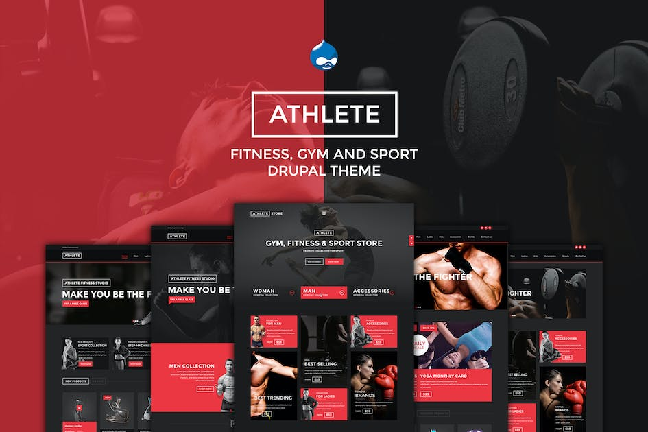 Download Athlete - Fitness, Gym and Sport Drupal theme by ArrowHiTech