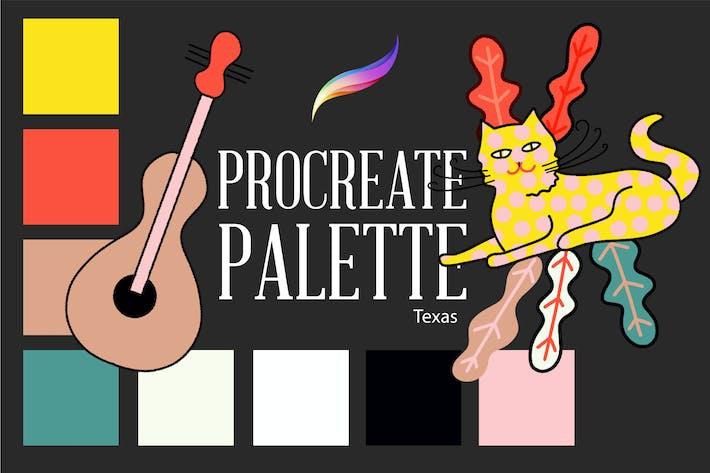 Thumbnail for Procreate palette.Texas