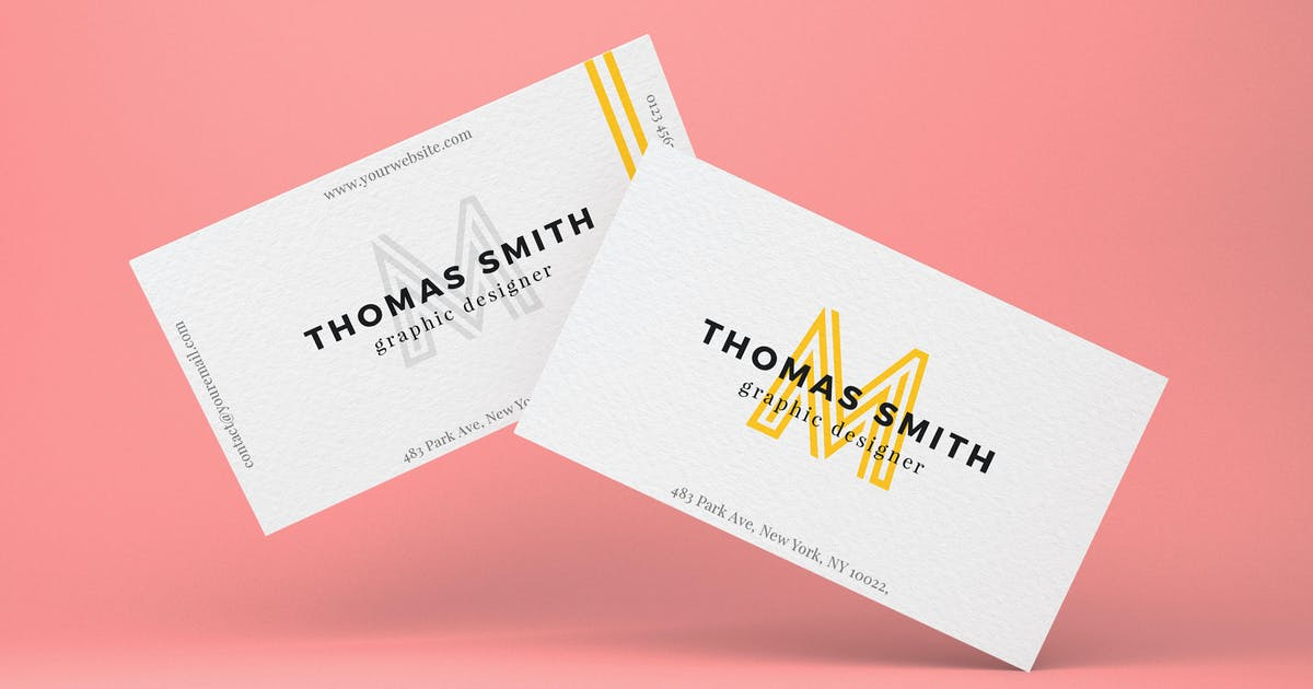 Download Realistic business card mock-up by EightonesixStudios
