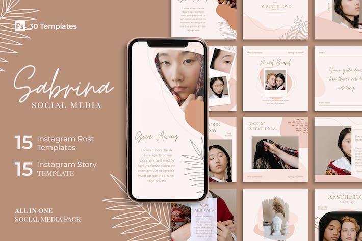 Sabrina - Pack of 30 Instagram Image Post & Story