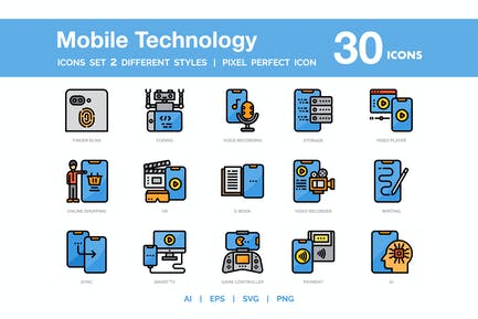 Mobile Technology Icon Pack