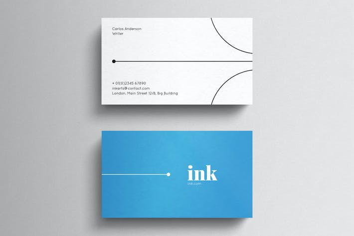 Thumbnail for Minimal Blue Business Card Template