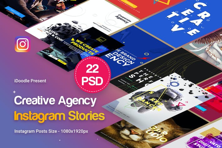 Cover Image For Agency Instagram Stories - 22 PSD