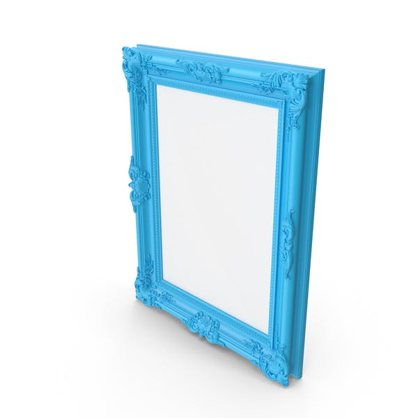 Thumbnail for Blue Baroque Picture Frame