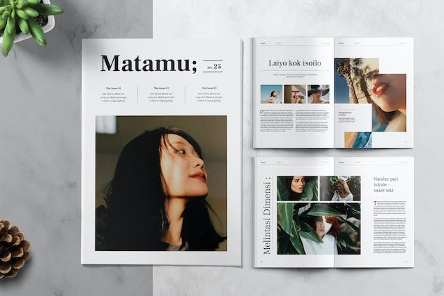 MATAMU - Clean and Minimalist Magazine Template